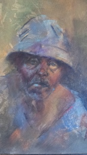 Mr Banda (pastel on canvas)