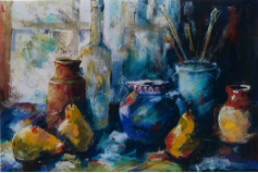 Pears and French Jug